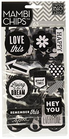 me & my BIG ideas Pocket Pages Chipboard Stickers, Hey You, Black/White Glitter chipboard stickers Perfect for scrapbooking or card making! Scrapbook Stickers, Scrapbook Albums, Planner Stickers, Fabric Crafts, Sewing Crafts, Carnivals, Discount Beauty, Arts And Crafts Supplies, White Glitter