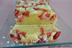 Cake fondant fraises mascarpone 125gr mascarpone -60gr beurre mou -100gr de sucre -2 oeufs - 1 citron vert - 200gr farine - 50 gr poudre amandes - 200 gr fraises