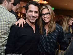 Say cheese! The 45-year-old kept her dark-rimmed glasses firmly on as she posed with director Daniel Barnz