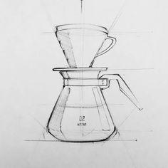 HARIO V60  #sketch #productdesign #coffee #coffeeshop #specialtycoffee