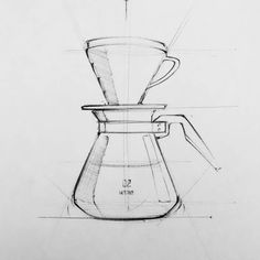 HARIO V60 #sketch #productdesign #coffee #coffeeshop #specialtycoffee