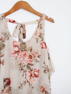 pretty flower pattern summer dress