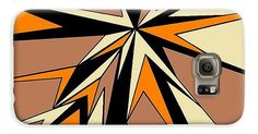Galaxy Cases of 'Burst of Orange 2' by Sumi e Master Linda Velasquez.