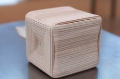 Matthew Fox Larkin, rubber band cube, sculpture.  This is rad!  Love the design created on the far face of the cube.