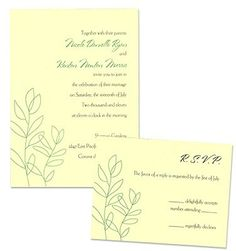 Informal Invite Eden Wedding Invitations
