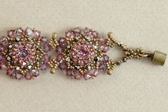 WORKSHOP for Lovely Flowers Bracelet on 03 April by SidoniasBeads