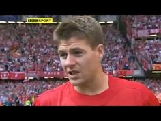 Captain Steven Gerrard speaks to the BBC following Liverpool's victory over West Ham in the 2006 FA Cup Final. #LFC
