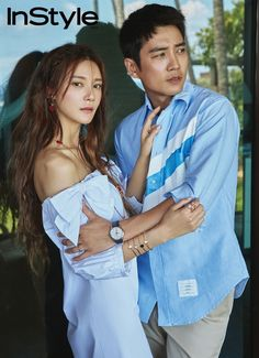 Cha Ye Ryun & Joo Sang Wook feature in the upcoming June issue of InStyle, check it out! Joo Sang Wook, Nuno, Song Hye Kyo, Instyle Magazine, Movie Couples, Welcome Baby, Korean Artist, Actor Model, Celebs
