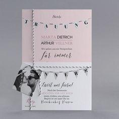 Unsere Hochzeitseinladung Paper aus der Trendy Kollektion