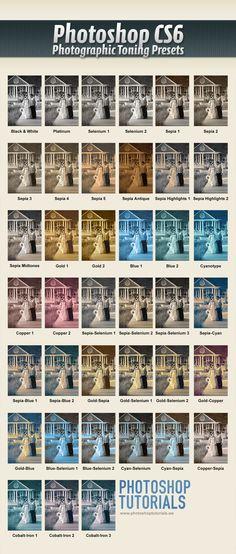 Photoshop Split Toning Presets, http://photoshoptutorials.ws/photoshop-tutorials/photo-effects/quick-tip-access-hidden-photographic-toning-gradients-photoshop-cs6/#