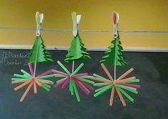 Las estrellas que decoraron nuestra aula en Navidad