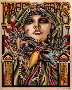 Mardi Gras graphic arts picture by Paul A. Dobleman