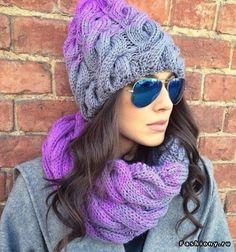 Вязаные шапки и шарфы. Зима 2015