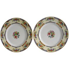 Myott/Staffordshire Crown Ivory Dinner Plates 2202 from hiddeninthehills on Ruby Lane
