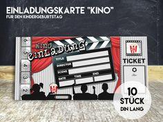kino einladungen kino einladungskarten | kindergeburtstag | pinterest, Einladungsentwurf