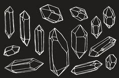 Crystal / Mineral / Gem Drawings