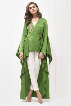 Show details for Charmeuse hand embroidered dress Designer Party Wear Dresses, Kurti Designs Party Wear, Indian Designer Outfits, Indian Outfits, Party Dresses, Wedding Dresses, Pakistani Dresses Casual, Pakistani Dress Design, Casual Dresses