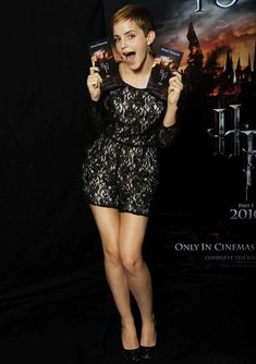 Emma Watson Unveils The Harry Potter And The Deathly Hallows Part 1 Poster In  Alice by Temperley