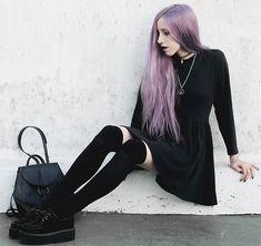 Jenn Potter - Made By Me Black Skater Dress, Amen Diamonds Quartz Necklace, Amen Diamonds Yin Yang Tattoo Choker - You Know You're Right
