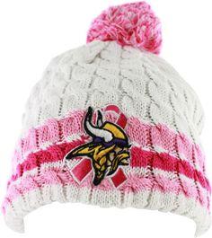 4ad4f8b2bdb Minnesota Vikings Pink Breast Cancer Awareness Knit Beanie Cap Cool  Sweaters