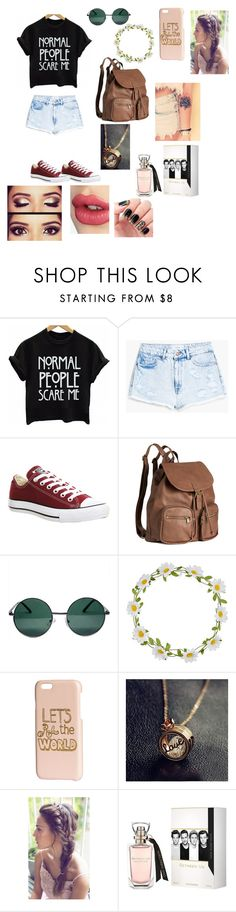 """Untitled #36"" by mattie2602 ❤ liked on Polyvore featuring MANGO, Converse, H&M, YHF, Carole and Charlotte Tilbury"
