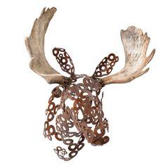 Hugo the Moose Sculpture metal sculpture by FerrousWheelDesign, $1350.00