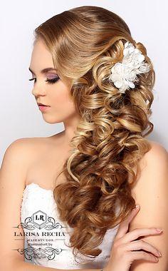 Свадебная прическа на длинные волосы от Реча.