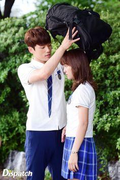 Ahhh my gentleman❤️ Kim Joong Hyun, Jung Hyun, Tall Boy Short Girl, Short Girls, Kim Sejeong, Kim Jung, School2017 Kdrama, Korean Drama Movies, Korean Dramas