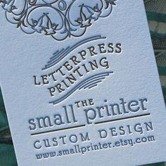 Letterpress Business Cards Sample by SmallPrinter on Etsy