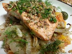 Yummy Salmon. Yhe Olives were a nice touch