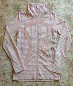Lululemon In Stride Candy Stripe Jacket Women's Sz 4 / C  | eBay