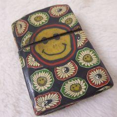 Vintage 70's Flower Power Yin Yang Smiley Hippie Lighter Zippo Insert