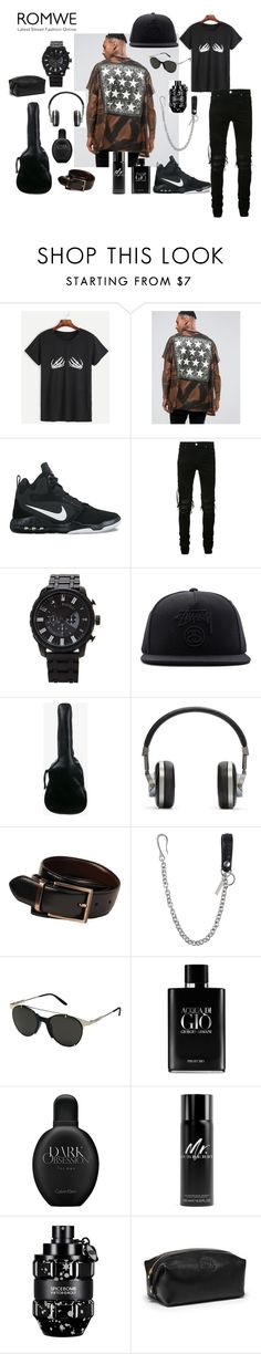 """""""Menswear."""" by stavrosdragatakis on Polyvore featuring ASOS, NIKE, AMIRI, 21 Men, Stussy, Yves Saint Laurent, Master & Dynamic, Kenneth Cole, Dsquared2 and Carrera"""