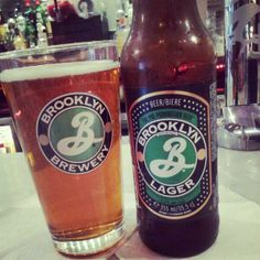 Brooklyn Lager. Jake's fav Brooklyn Lager, Beer 101, Pint Glass, Beer Bottle, Fairy Tales, Photo And Video, Netherlands, Modern, Party