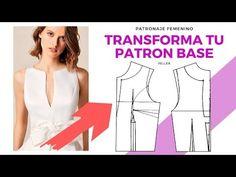 Estiliza tu cintura con este Corte/FellerPatronaje - YouTube Abaya Fashion, Couture, Fashion Sewing, Corset, Athletic Tank Tops, Sewing Patterns, Peplum, Creations, Blouse
