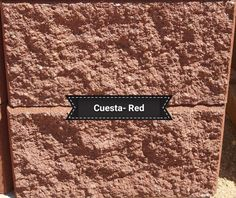 Cuesta Retaining wall Block in Red color. They are wide, tall, and deep. Check out our website or for pricing info call us @ We are located in Dacono, Co. and are a family owned and operated business. Concrete Block Paving, Paving Stones, Red Color, Deep, Website, Business, Check, Wall, Cobblestone Pavers