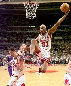 A Utah Jazz elleni 1997-es nagy döntőn.