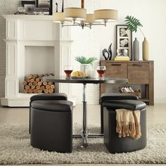 Bingley Adjustable Space Saver 5-piece Cocktail Dining Set iNSPIRE Q Modern