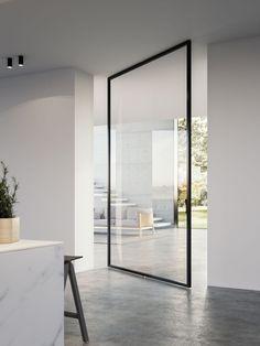The Quadra door on a central pivot Furniture Offers, Furniture Design Modern, Internal Doors, Pivot Doors, Glass Door, Luxury Furniture, Home Decor, Design Your Bedroom, Moving Walls
