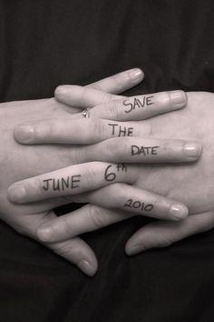cute photo idea for the invites