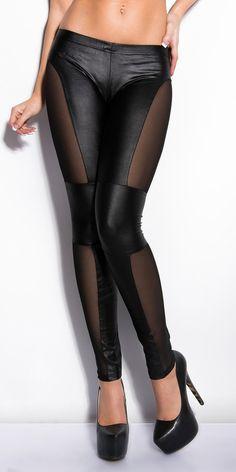 Pantaloni/leggings trasparenti