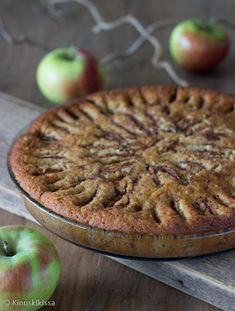 Gingerbread Apple Cake (in Finnish) - Piparkakkupojan omppupiirakka Gingerbread Cake, Apple Cake, Yams, Cake Cookies, Pie, Sweets, Baking, Desserts, Food