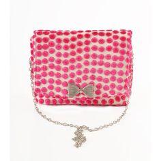 Polka Dot Pink square clutch