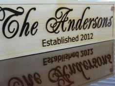 Carved Wood Sign Last Name | visit etsy com