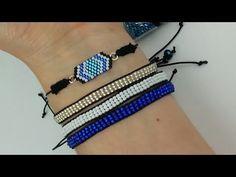 Beaded Jewelry, Beaded Bracelets, Jewellery, Chevron, Brick Stitch, Bead Weaving, Paracord, Jewelry Making, Beads