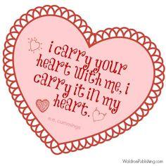 ee cummings v-day quote Ee Cummings, Valentine's Day Printables, Valentine's Day Quotes, Quote Of The Day, My Heart, Valentines Day, Valentine's Day Diy, Valentine Words, Valentines