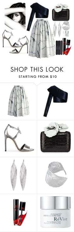 """🌑"" by poorvashikalra ❤ liked on Polyvore featuring Chicwish, Balmain, Gucci, Nancy Gonzalez, Awü, Chanel, RéVive and MAC Cosmetics"