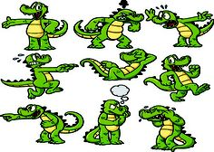 alligator cartoon   Clip Art Cartoon of a Silly Alligator ... - photo#23