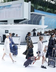 See How Chanel Created the World's Most Luxurious Airport Terminal for Its Spring 2016 Show: (http://www.racked.com/2015/10/6/9460929/chanel-spring-summer-2016-airport-airline#4847440)
