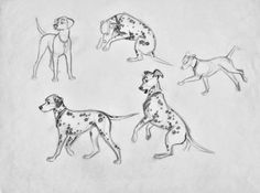 Character Designs from 101 Dalmatians by Milt Kahl